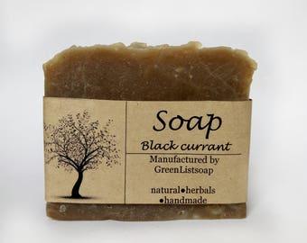 Vegan soap, Black currant, Gift soap, Soap bar, Artisan soap, Boyfriend gift, Gift for boyfriend, All Natural Soap, Homemade Soap, Mens soap