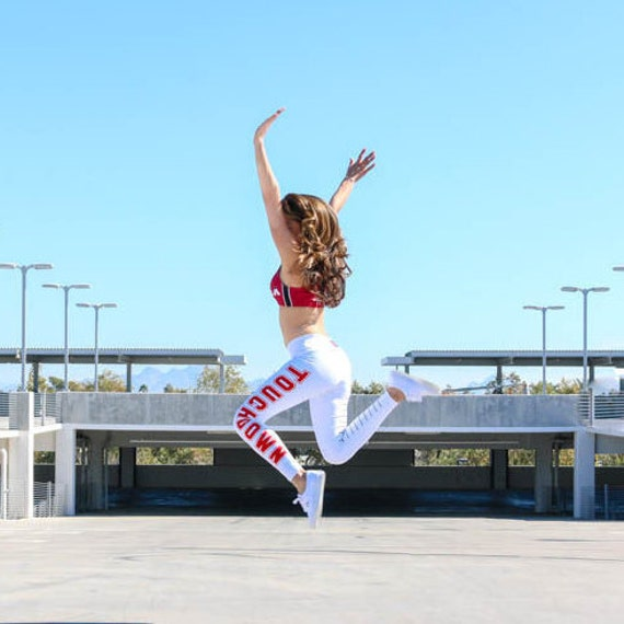 Touchdown Leggings reppin Football - White/Red