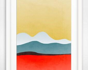 Large Abstract Wall Art, Abstract Landscape Print, Modern Abstract Art Print, Mid Century Art, Modern Wall Decor