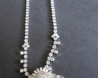 Vintage signed PARCO Rhinestone Necklace