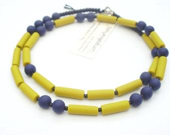 Morse code jewellery - CONGRATULATIONS necklace - wedding jewellery - minimalist jewelry - mustard yellow - bride to be present