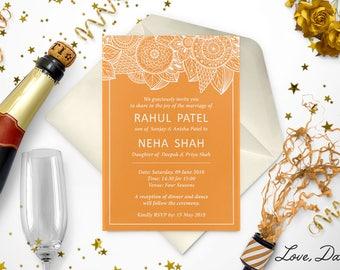 Mehndi Ceremony Cards : Mehndi invitation etsy