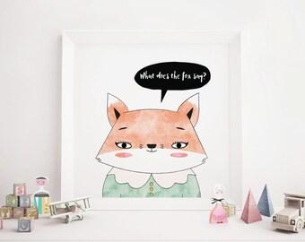 Girl Fox Art Print