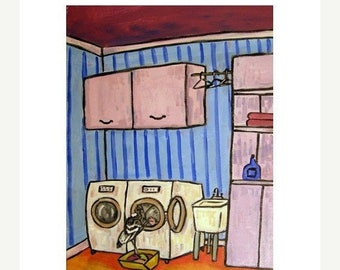 25% off Condor Doing Laundry Art Print