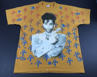 Vintage 1993 the artist formerly known as Prince all over print paisley park t-shirt mens XL