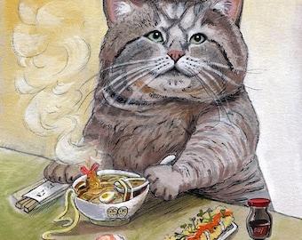 SUSHI CAT Tempura Udon impression