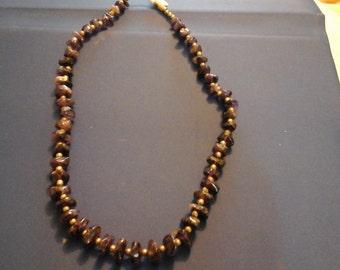 Amethysts Stone Necklace Vintage