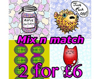 Sale Mix and Match pick any two A5 Prints