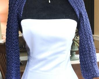 Wedding shrug, bridal shrug, bridal/Prom cover up. 3/4 length sleeves