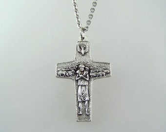 Good Shepherd Cross Necklace Pope Francis