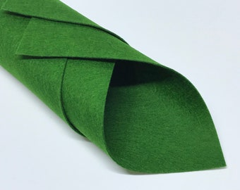 1mm Hunter Green Merino Wool Felt A4 Sheet - No. 47