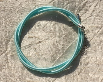 1pc - silk 3 mm blue Turquoise 46 cm 4558550017284 Choker necklace