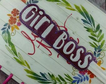 Girl Boss Pen Holder Planner Band, planner accessory, elastic planner band