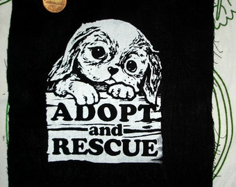 ADOPT AND RESCUE super adorable patch