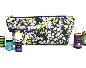 Large Essential Oil Storage Bag - Oil Case - Travel Case for Young Living / Doterra Essential Oils - Geo Arrows