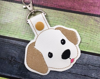 Puppy tag - novelty leyfob - lab puppy keyring keychain -best gifts for kids - gifts under 10