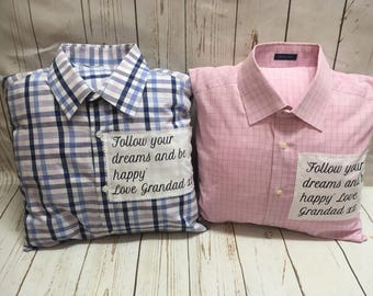 Memory pillow, bereavement pillow, bereavement gift, t-shirt pillow, memorial pillow, memory cushion, clothing cushions