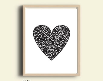 Printable decor, printable wall art, instant download printable art, printable black and white wall art, printable wall decor, download art