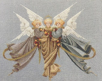 """Cross-stitch pattern, Lavender and Lace """"Heavenly Gifts"""""""