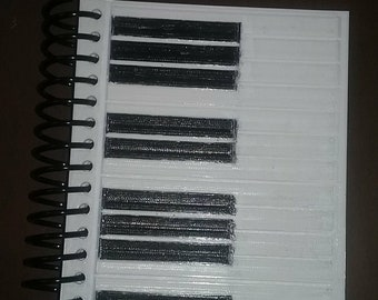Piano Keys 3D Printed Notebook Covers