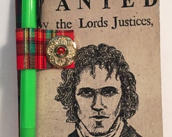 Outlander Wanted, Red Jamie Mini Composition Book and Pencil