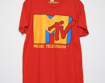 MTV Shirt Vintage tshirt 1986 COKE Catch The Wave Spring Break Music Television tee 1980s Original