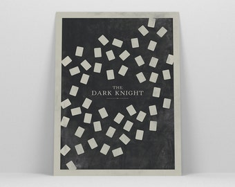 Batman Poster ~ The Dark Knight, Batman Gift, Minimalist Poster, Gifts for Him, Boyfriend Gift, Movie Poster, Art Print