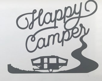 Happy camper vehicle decal