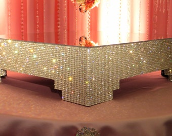 """20"""" Square, Crystal Cake Stand"""