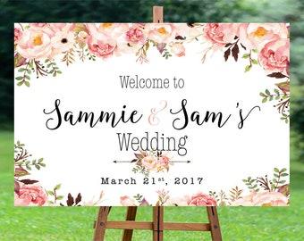 Wedding Welcome Sign, wedding chalkboard sign, Rustic Wedding Decor, wedding decoration, Wedding sign - US_WS0102