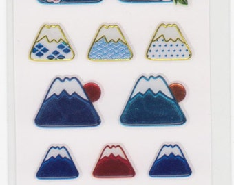 Mt Fuji Stickers - Japanese Stickers - Reference A3881