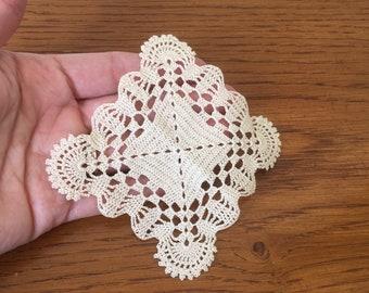 DOLLHOUSE Miniature Crochet Tablecloth or Blanket Afghan