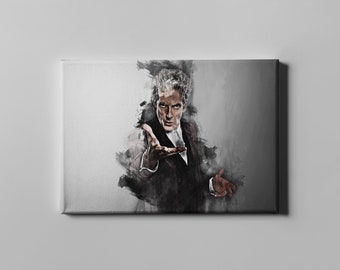Doctor Who canvas print Peter Capaldi wall art home decor
