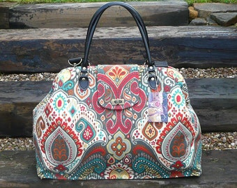 Carpet Bag, Mary Poppins Bag, Weekender bag, Overnight Bag, Bags and Purses, Luggage and Travel, Weekend bag,Ready to ship