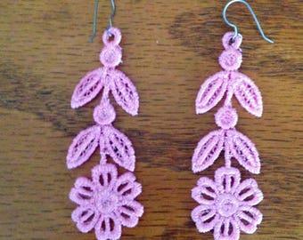 Lace Flower Earrings Gift For Mom