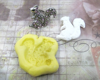 craft mold -Squirrel mold,  silicone mold , food mold. craft mold, soap mold,clay mold, # 39