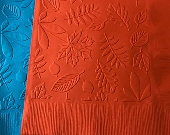 Fall Napkins ~ Embossed Paper Napkin ~ Wedding ~ Anniversary ~ Birthday ~ Bridal ~ Leaves ~ Beverage ~ Luncheon ~ Dinner ~ Guest Towel