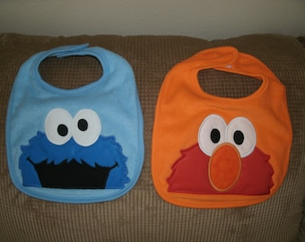 Bibs inspired by Sesame Street characters