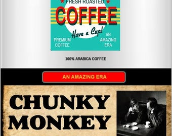 Chunky Monkey Flavored Coffee from the ERA collection, 12oz(350g)