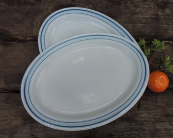 Vintage Pyrex Platters Set of 2 Large Oval Serving Platters Plates Pyrex Tableware Dinnerware