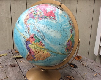 "Vintage 18"" Replogle Cold War Era  Double-Axis Globe"