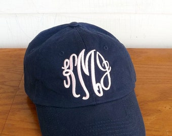 Monogram Hat, Monogram Baseball Hat, Womens hat, monogrammed hat, monogrammed cap, gift for her, gifts under 15, stocking stuffer