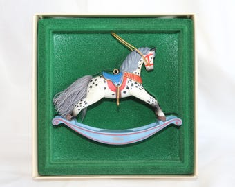 Vintage Hallmark Keepsake  Rocking Horse Christmas Ornament 1984