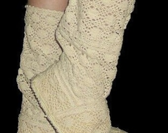 Sewing Pattern Boots--------- Lace Boots made from---------- TRIM ----yes TRIM--------Boots for the Sun and Street