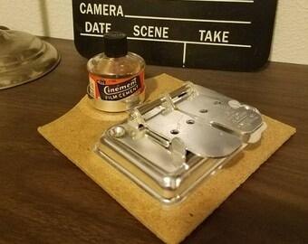 Mansfield Jr. Splicer and 'Cinement' Film Glue Bottle
