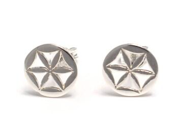 Flowers Silver earrings 925 sterling silver