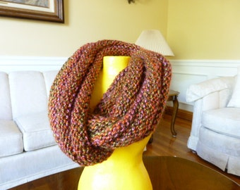 Fall Colors Ribbed Infinity Scarf