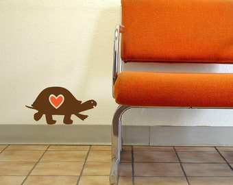 lovely little turtle vinyl wall decal graphic