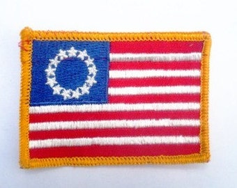 American Flag - Vintage 1970's Sewing Patch Applique