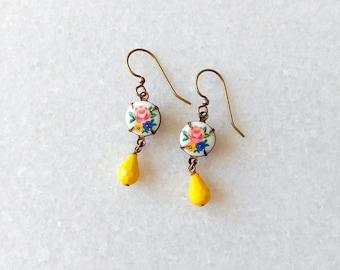 Yellow Earrings - Lemon Earrings - Citrus Earrings - Summer - Rosie II Earrings (SD1266)